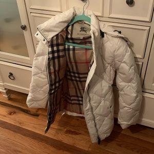 Burberry off white coat